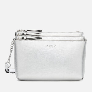 DKNY Women's Bryant Triple Zip Cross Body Bag - Dark Silver