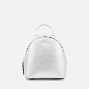 DKNY Women's Bryant Mini Backpack Cross Body Bag - Dark Silver