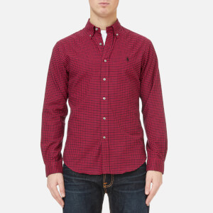 Polo Ralph Lauren Men's Slim Fit Twill Shirt - Red Black Check