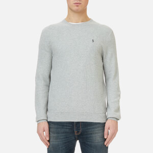 Polo Ralph Lauren Men's Texturized Cotton Crew Knitted Jumper - Grey