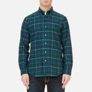 Polo Ralph Lauren Men's Brushed Twill Shirt - Green Check