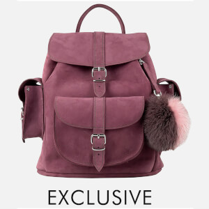 MyBag x Grafea Exclusive Women's Hari Nubuck Backpack - Burgundy