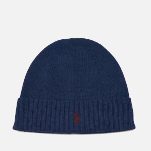Polo Ralph Lauren Men's Merino Wool Beanie Hat - Shale Blue Heather
