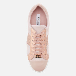 Dune Women's Egypt Leather Cupsole Trainers - Pink Metallic: Image 3