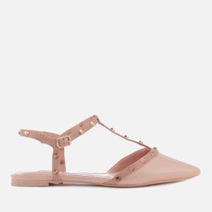 Dune Women's Cayote Pointed Flats - Blush