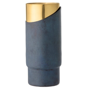 Bloomingville Metal and Brass Vase - Blue