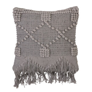 Bloomingville Chunky Knitted Cushion - Grey
