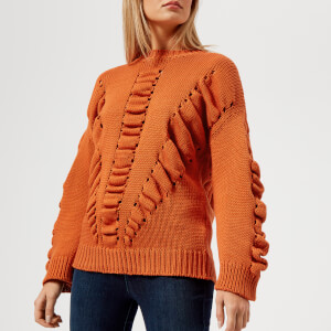 BOSS Orange Women's Ikara Knit Jumper - Medium Orange