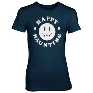 T-Shirt Femme Happy Haunting - Bleu Marine