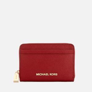 MICHAEL MICHAEL KORS Women's Money Pieces Zip Around Card Case - Bright Red