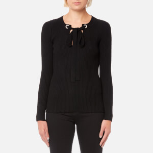 MICHAEL MICHAEL KORS Women's Grommet Lace Top - Black