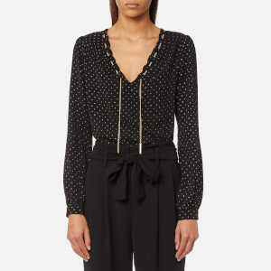 MICHAEL MICHAEL KORS Women's Starbright Chain Blouse - Black/Gold