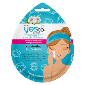 Mascarilla reconfortante de algodón y barro de yes to 10 ml