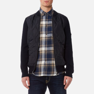 Barbour International Men's Track Zip Through Jacket - Navy