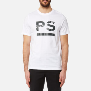 PS by Paul Smith Men's Regular Fit PS Logo T-Shirt - White