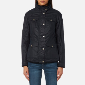 Barbour Women's Faeroe Wax Jacket - Royal Navy