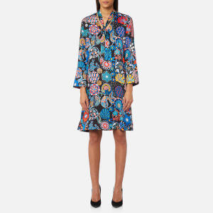 PS by Paul Smith Women's Enso Floral Tunic Dress - Black