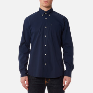 Barbour Men's Preston Long Sleeve Shirt - Navy