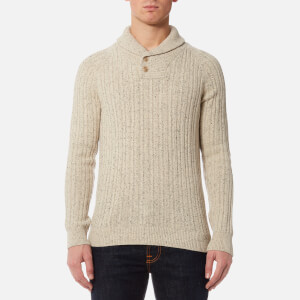 Barbour Men's Haskier Shawl Neck Knitted Jumper - Neutral