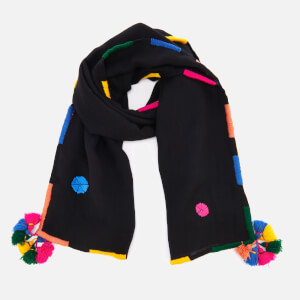 PS by Paul Smith Women's Pom Pom Scarf - Black