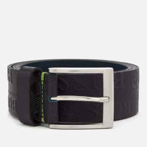 BOSS Green Men's Torialo Logo Embossed Belt - Navy