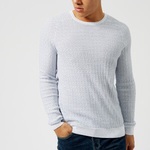 HUGO Men's Stanon Knit Jumper - White