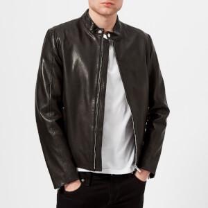HUGO Men's Leras Leather Jacket - Black