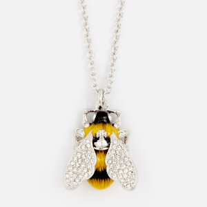 Vivienne Westwood Women's Bumble Pendant Necklace - White Crystal