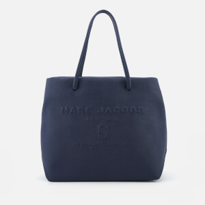 Marc Jacobs Women's Logo Shopper East West Tote Bag - Midnight Blue