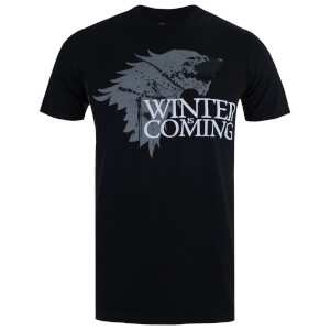T-Shirt Homme Game of Thrones Winter is Coming - Noir