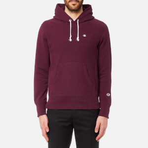Champion Men's Over Head Small Chest Logo Hoody - Burgundy