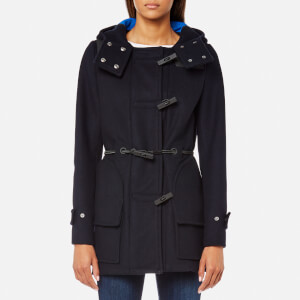 Hunter Women's Original Bonded Wool Duffle Coat - Navy