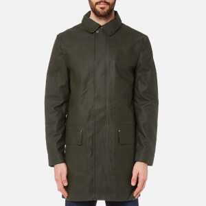 Hunter Men's Original Rubberised Raincoat - Dark Olive