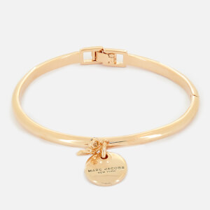 Marc Jacobs Women's MJ Coin Bow Hinge Cuff Bracelet - Gold