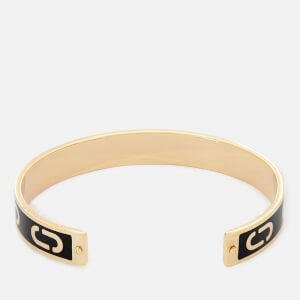 Marc Jacobs Women's Double J Enamel Cuff Bracelet - Black/Gold