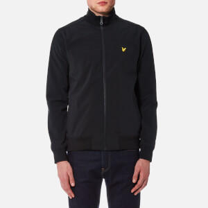 Lyle & Scott Men's Zip Through Funnel Neck Soft Shell Jacket - Black
