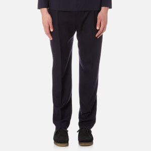 Lemaire Men's One Pleated Trousers - Dark Navy