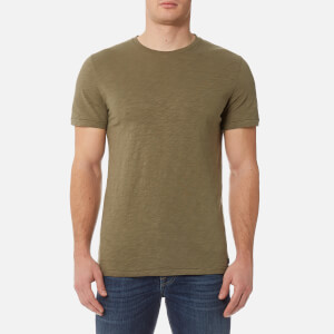 7 For All Mankind Men's Basic T-Shirt - Army