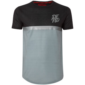 DFND Men's Shaw Panel T-Shirt - Black/Grey