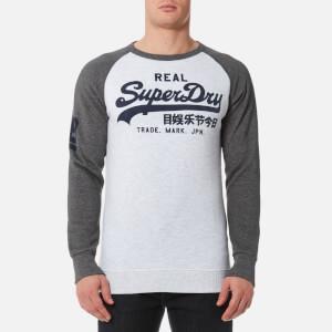 Superdry Men's Vintage Logo Raglan Crew Sweatshirt - Ice Marl