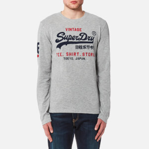 Superdry Men's Shirt Shop Duo Long Sleeve T-Shirt - Trophy Grey Slub