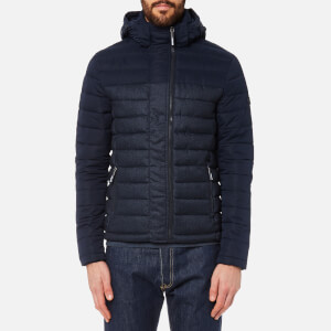 Superdry Men's Fuji Colour Block Double Zip Jacket - True Navy/Denim Marl