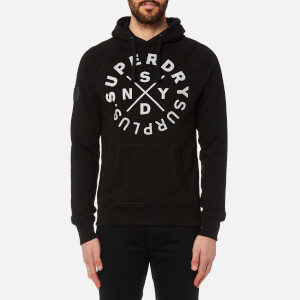 Superdry Men's Surplus Goods Graphic Hoody - Jet Black