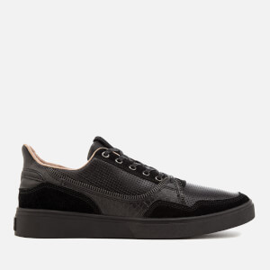 Diesel Men's S-Vipe Leather Low Top Trainers - Black