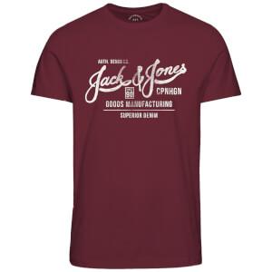 T-Shirt Homme Originals Slack Jack & Jones - Rouge Cordovan