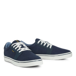 Jack & Jones Men's Banda Canvas Mix Trainers - Navy Blazer