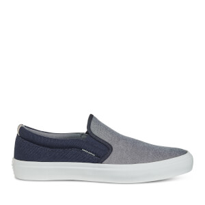 Jack & Jones Men's Rush Chambray Mix Plimsolls - Navy Blazer