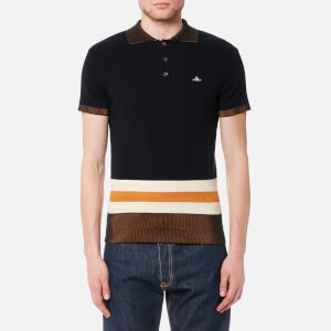 Vivienne Westwood MAN Men's Knitted Polo Shirt - Navy