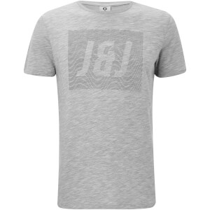T-Shirt Homme Core Toby Jack & Jones - Gris Clair Chiné