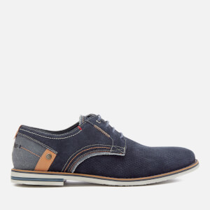 Wrangler Men's Tower Derby Suede Shoes - Navy